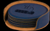 Blue Round Leatherette Coaster Set Boss Gift Awards