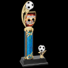 Custom Graphic Soccer Trophy Single Column Trophies
