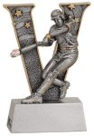 Male Baseball V Series Resin Baseball Trophy Awards