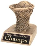 Basketball - Gold Resin Trophy Basketball Trophy Awards