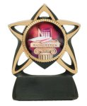 Star Resin Mylar Holder Boxing Trophy Awards