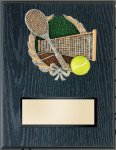 Tennis Resin Plaque Mount Award Economy Plaques