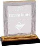 Gold Carved Rectangle Impress Acrylic Employee Awards