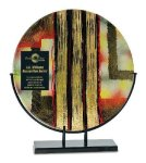 Round Art Glass Award Executive Gift Awards