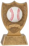 Plastic Sport Shield Baseball Award Figure on a Base Trophies