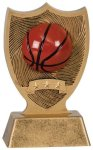 Plastic Sport Shield Basketball Award Figure on a Base Trophies