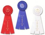 Classic Three Streamer Rosette Award Ribbon Football Trophy Awards