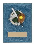 Softball Resin Plaque Mount Award Military Trophy Awards