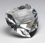 Corporate Crystal Heart Desk Accessory Paperweights