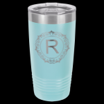 Light Blue Stainless Steel Ringneck Double Wall Insulated Travel Mug Promotional Mugs