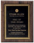 Walnut Hardwood Bevel Edge Plaques Sales Awards