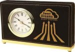 Black Leatherette Rectangle Desk Clock Secretary Gift Awards