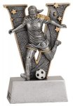 Female Soccer V Series Resin Soccer Trophy Awards