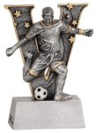 Male Soccer V Series Resin Soccer Trophy Awards