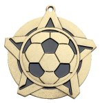 Soccer Super Star Medal  Gold Soccer Trophy Awards