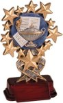 Lamp of Learning - Starburst Resin Trophy Starburst Resin Trophies
