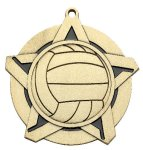 Volleyball Super Star Medal  Gold Volleyball Trophy Awards