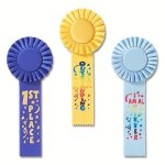 Fun Rosette Award Ribbon Volleyball Trophy Awards