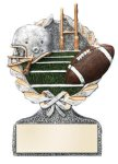 Football Multi Color Sport Resin Figure Wreath Awards